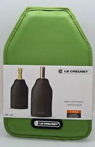 Le Creuset WINE BOTTLE Cooler SLEEVE chiller Green Original Screwpull Design