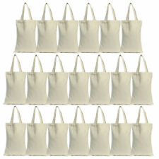 Lot of 20 Cotton Canvas Grocery Shopping Shoulder Bag Tote Eco Friendly Reusable