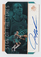 1998/99 SP AUTHENTIC JEROME WILLIAMS SIGN OF THE TIMES ON CARD AUTO AUTOGRAPH JW