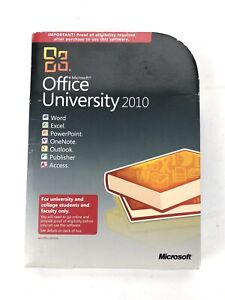 Microsoft Office University Software 2010- COMPLETE