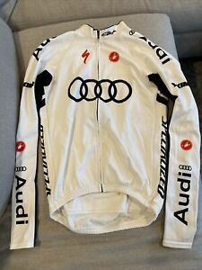 Castelli AUDI Team LS Long Sleeve Cycling Jacket Thermal M Medium White