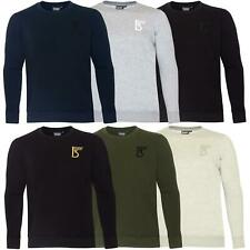 New Mens Sweatshirt Plain Fleece Crew Neck Jumper Work Sweat Top Pullover Jersey