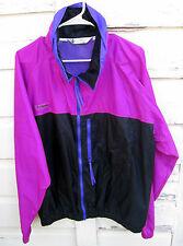 Vintage Columbia Mens Purple Black Radial Sleeve Full Zip  Windbreaker Jacket XL