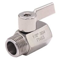 Ball Valve  1/2 Inch NPT Male X Female Small Mini Valve Stainless Steel 304