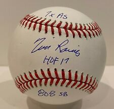 Tim Raines Signed Dual Inscribed Baseball Autographed MAB Hologram Yankees HOF