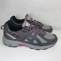 Asics Gel Venture 6 Womens 9.5 Gray Pink Trail Running Shoes