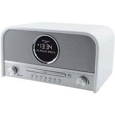 Soundmaster NR 850 Nostalgie Radio weiß DAB+ mit Bluetooth u. CD