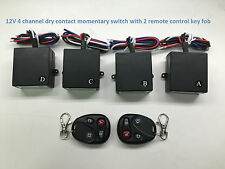 MSD-INC 12v 4ch dry contact 0vout momentary wireless remote relay switch RS306