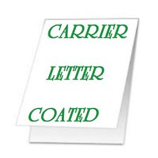 CARRIER SLEEVES For Laminating Laminator Pouches LETTER Size 2 pk Coated