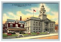 Cumberland County Court House, Bridgeton NJ c1950 Linen Postcard M11