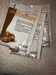 shakeology salted carmel single packs Set Of 3. Great Way To try!! $12 For 3!!