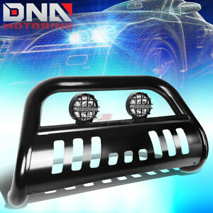 "FOR 05-15 TOYOTA TACOMA 2WD/4WD BLACK 3"" BULL BAR GRILLE GUARD+CLEAR FOG LIGHT"
