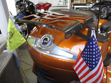 Can-Am Spyder RT Trunk-mounted, double flag holder NO DRILLING REQUIRED.12""