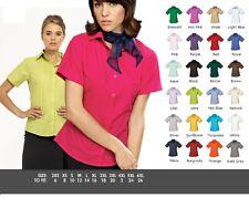 3 X Premier Poplin Ladies Womens Short Sleeve Business Office Work Shirt Blouse