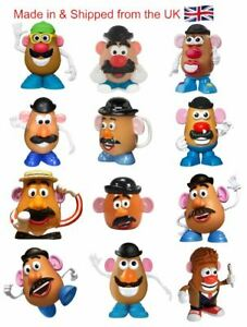 Potato Men Pack of 12 Flexible Fridge Magnets funny characters easy to remove