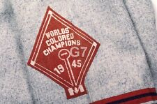 Orig Slide Negro League Cleveland Buckeyes Jersey Patch 1945 Colored Champions