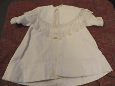 MANTEAU  D'ENFANT/ POUPEE  ANCIENNE 19 EME PIQUE DE COTON/ CHILD DOLL COAT