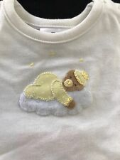 Antonella Kids NWT Pima Embroidered Sleepy Bear Outfit - 0-3 Months