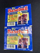 1987 TOPPS YEARBOOK STICKERS 2 PACKS SEALED