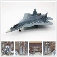 1/72 Scale Russian Su-57 Stealth Fighter Aircraft Stand Display 3D Alloy Model