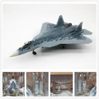 1:72 Scale Russian Su-57 Stealth Fighter Aircraft Stand Display 3D Alloy Model