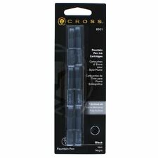Cross Standard Size Fountain Pen Ink Cartridge Refills - BLACK 8921