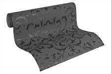 "95226-2) edle Design Vliestapete ""Naf Naf"" Ornament Design mit Glanz grau"