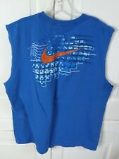 Nike Men's Blue Sleeveless Cotton Shirt Size Xxl- Lot L94