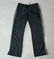 VINTAGE Nike Windbreaker Pants Adult Small Black Gray Swoosh Warm Up Joggers 90s