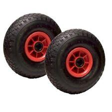 LOT de 2 x roue gonflable diable 260 x 85  (3.00-4) alésage 20 mm roulement à ro
