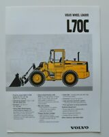 VOLVO Wheel Loader L70C 1997 dealer brochure catalog - English - USA