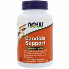 Now Foods, Candida Support, 90 Veg Capsules  Oregano Oil, Black Walnut