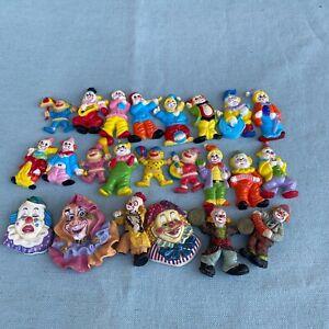 Vintage Clown Plastic Ceramic Refrigerator Fridge Magnets Set Googly Eyes Lot 23