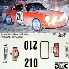 1:87 Porsche 911 - Monte Carlo 1967 #210 - Elford / Pierre - Decal, Abziehbild