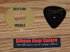 Gibson Les Paul Washer Tan Black Relic Switch Ring Toggle Guitar Parts Custom T