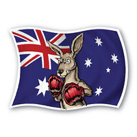 X large Aussie flag boxing kangaroo sticker 290mm vinyl water & fade proof