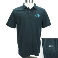 Vineyard Vines Mens Medium Black NFL North Carolina Panthers Whale Logo Polo
