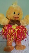 "Build a Bear Yellow duck wereing a straw skirt and coconut bra 18"" (60)"