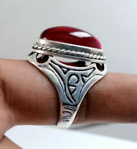 49.50 Cts Beautiful Red Ruby Gemstone Astrological Men's Ring Size 12 Gem