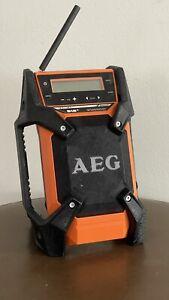AEG 18V 12V AM FM Bluetooth Aux DAB+ Compact Jobsite Radio BR1218B-0