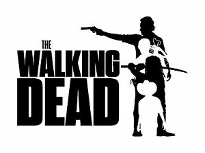 The Walking Dead Rick+3 - Typography quote Decorative Vinyl Wall Decal Sticker
