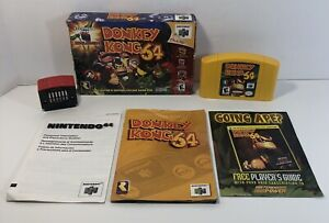 Donkey Kong 64 (Nintendo 64, 1999) N64 Complete in Box With Expansion Pak