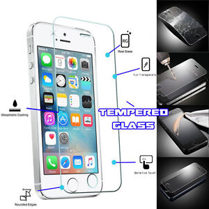 """Genuine TEMPERED GLASS Film Invisible Screen Protector For 4"""" iPhone SE 2016"""