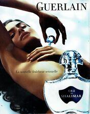 Publicité Advertising 079  2008  Guerlain  parfum Eau de Shalimar