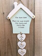 Personalised Wood Plaque Sign House Home Mum Birthday Family Gift Present