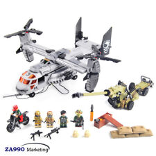640Pcs Military Army Helicopter Assemble Educational Building Blocks Toys Kids