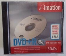 ($0 P & H) 5 X IMATION DVD+R 4.7GB BRANDED JEWEL CASE