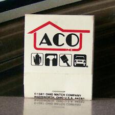Vintage Matchbook A8 1981 Ohio Match ACO Inc Car Hammer Paint Brush Tea Kettle