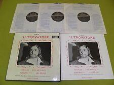 """Verdi Trovatore Tebaldi Del Monaco - 1959 UK """"Decca SXL 2129/31"""" WB FFSS STEREO"""