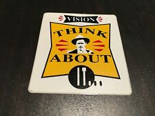 NOS VINTAGE VISION WHITE THINK ABOUT IT... SKATEBOARD STICKER